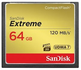 Карта памяти 64Gb Compact Flash SanDisk Extreme 120MB/s SDCFXSB-064G-G46