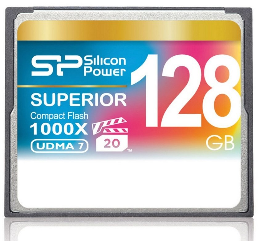 Карта памяти 128Gb Compact Flash 1000X Silicon Power Superior