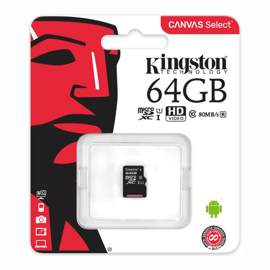 Карта памяти microSDXC 64Gb Сlass 10 Kingston (SDCS/64GBSP)